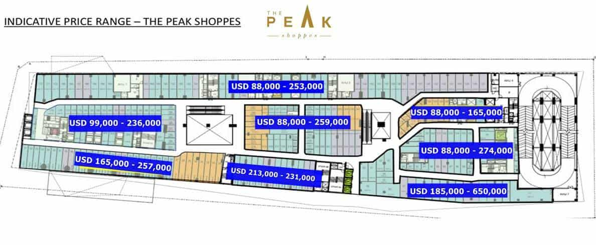 The Peak Shoppes - Price Guide