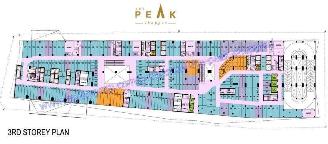 The Peak Shoppes - retail mall Level 3 floor plate