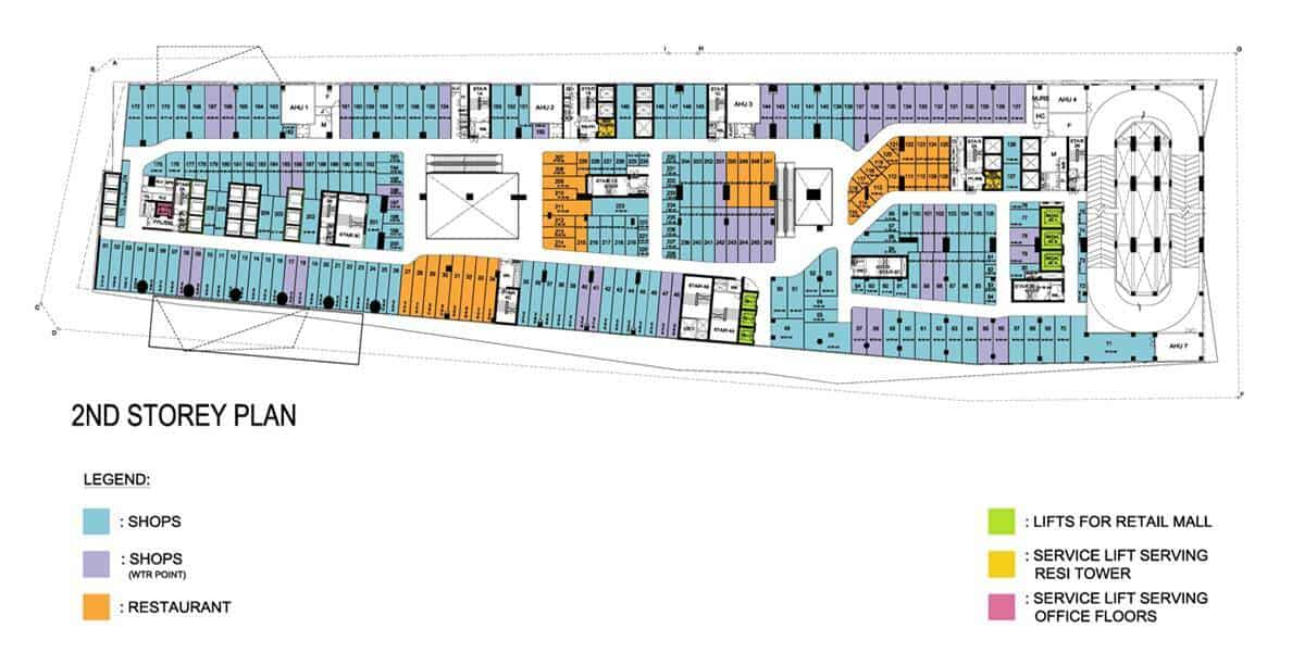 The Peak Shoppes - retail mall floor plate
