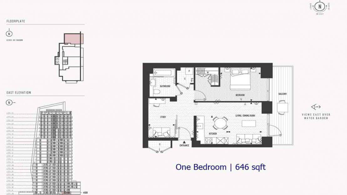 Cashmere Wharf - 1 Bedroom 646sf