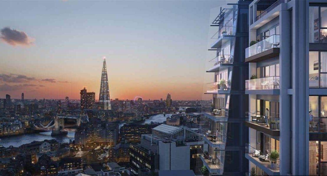 Cashmere Wharf - London Evening View