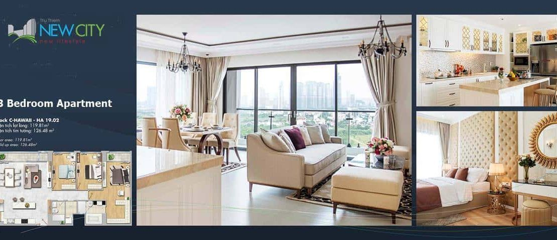 New City - Thu Thiem- 3 Bedroom Apartment interior