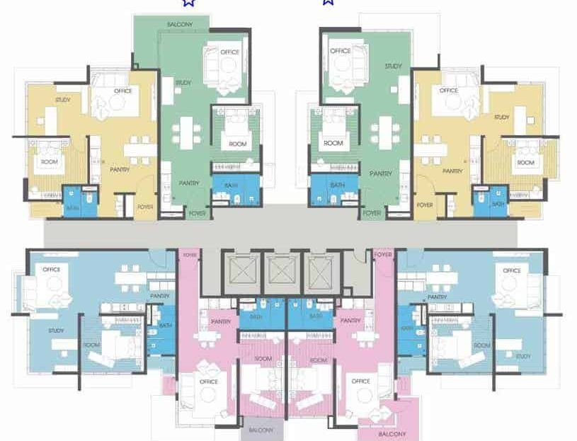 Viridea SOHO - Even Level Floor Plan