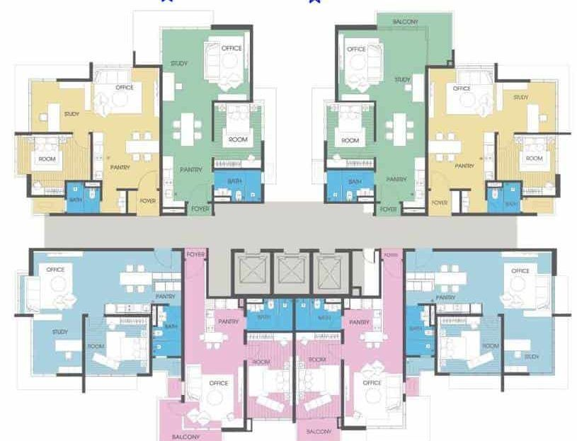 Viridea SOHO - Odd Level Floor Plan