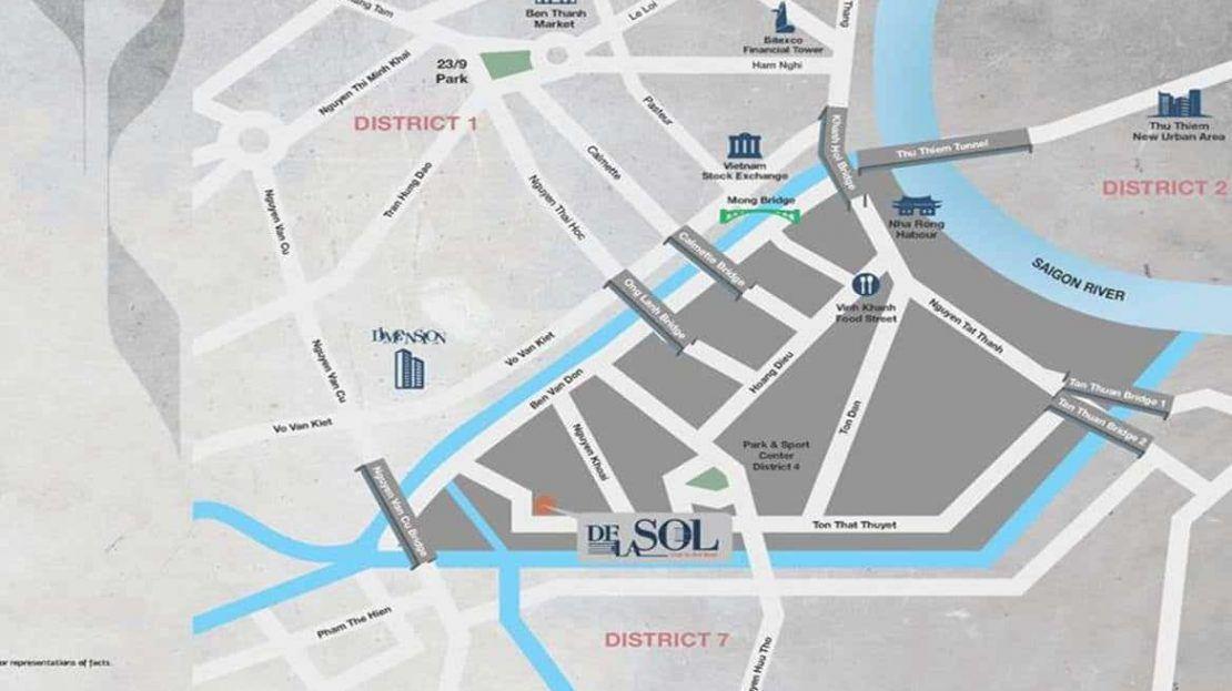 De La Sol - Location Map