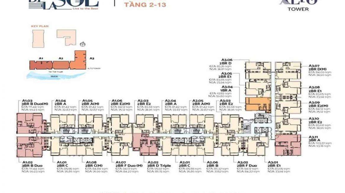 De La Sol - Typical Floor Plan