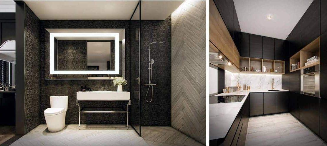 SO Sofitel Residences - Kitchen & Bathroom