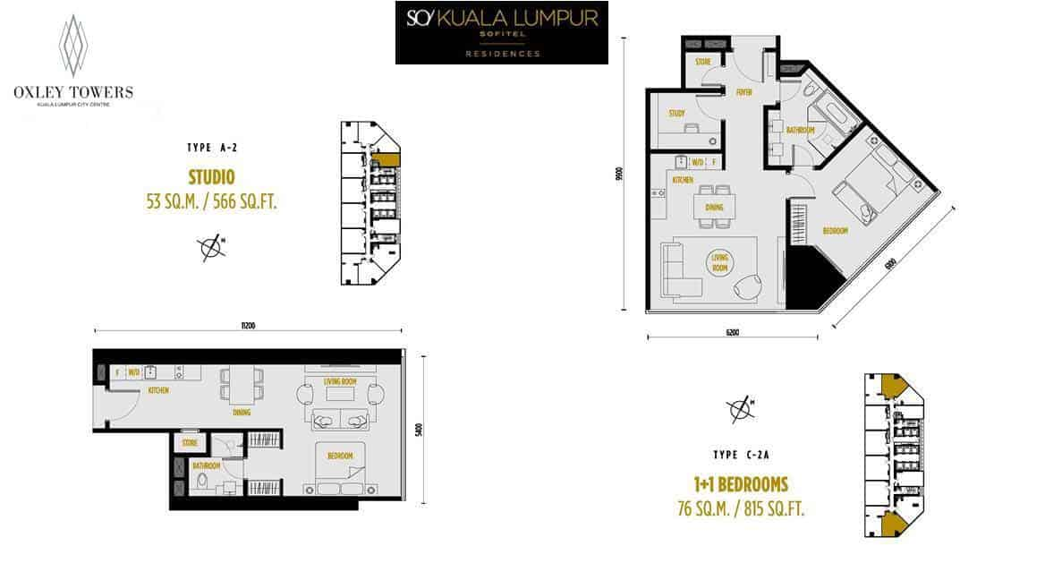 SO Sofitel Residences - Studio & 1 +S BR