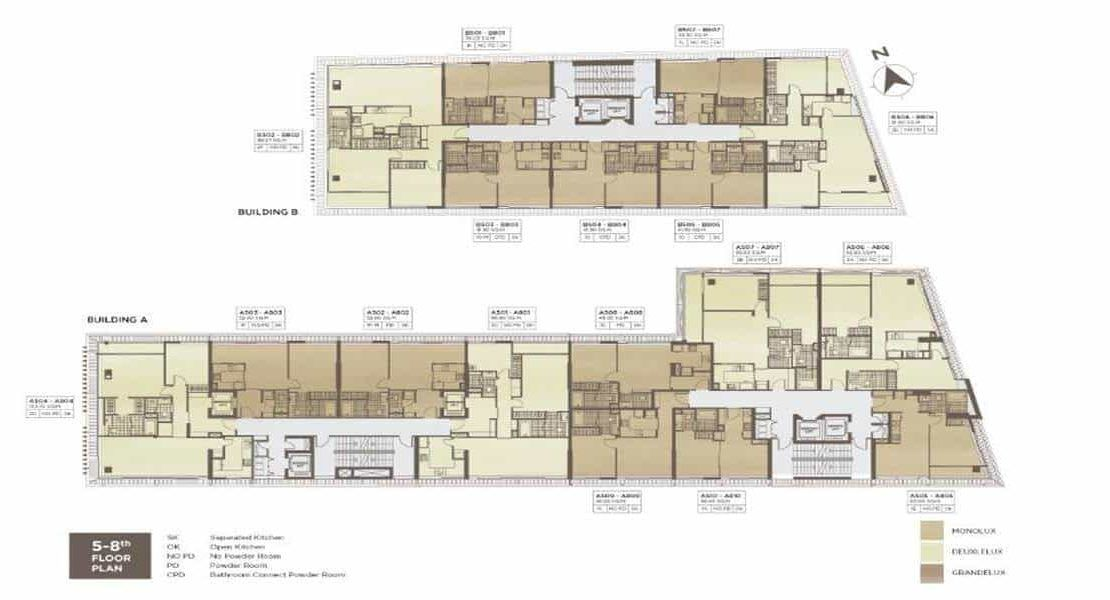 Chalermnit Art De Maison - Level 5-8 Floor Plan