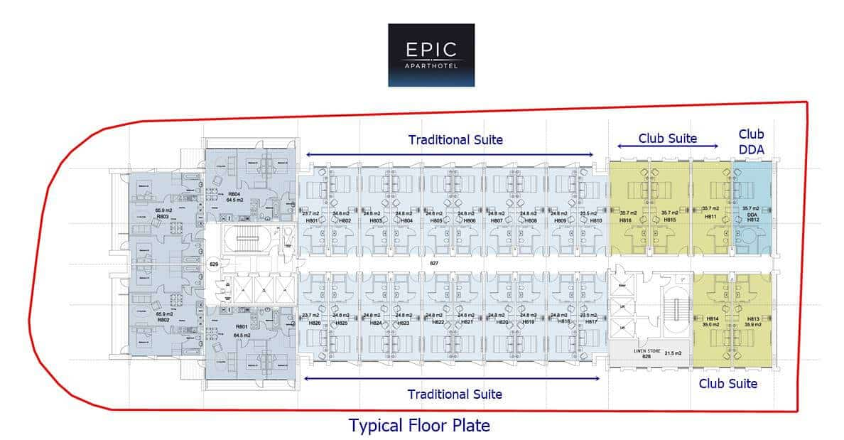 Epic Hotel & Residences - Typical Floor Plate