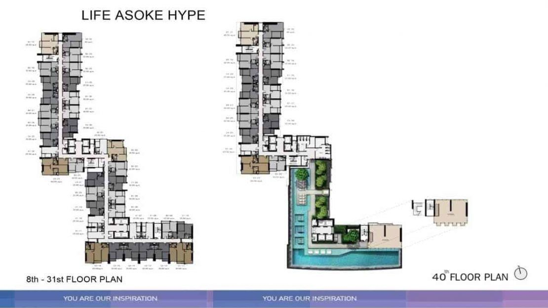 Life Asoke Hype - Level 40 Floor Plan