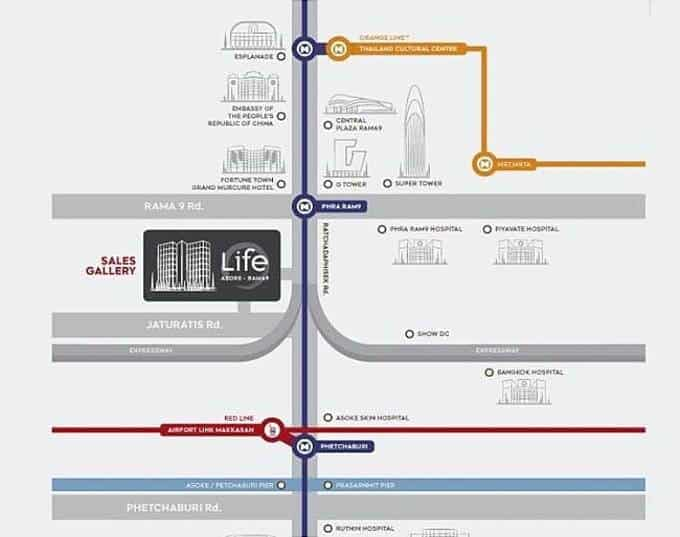 Life Asoke Hype - Location Map1