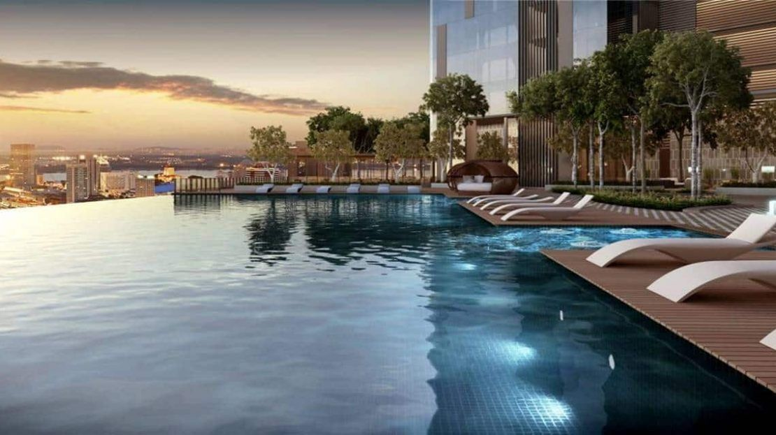 The Astaka -Cantilever Swimming Pool