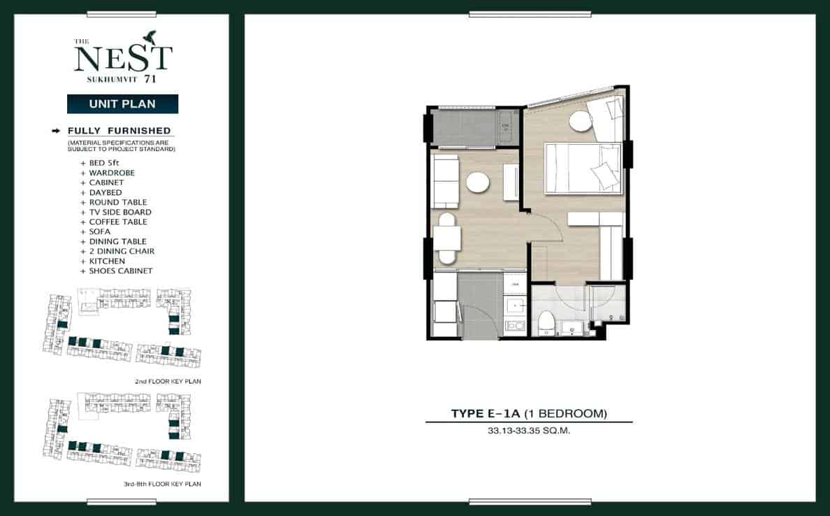 The Nest S71 - 1 Bedroom 33 sqm