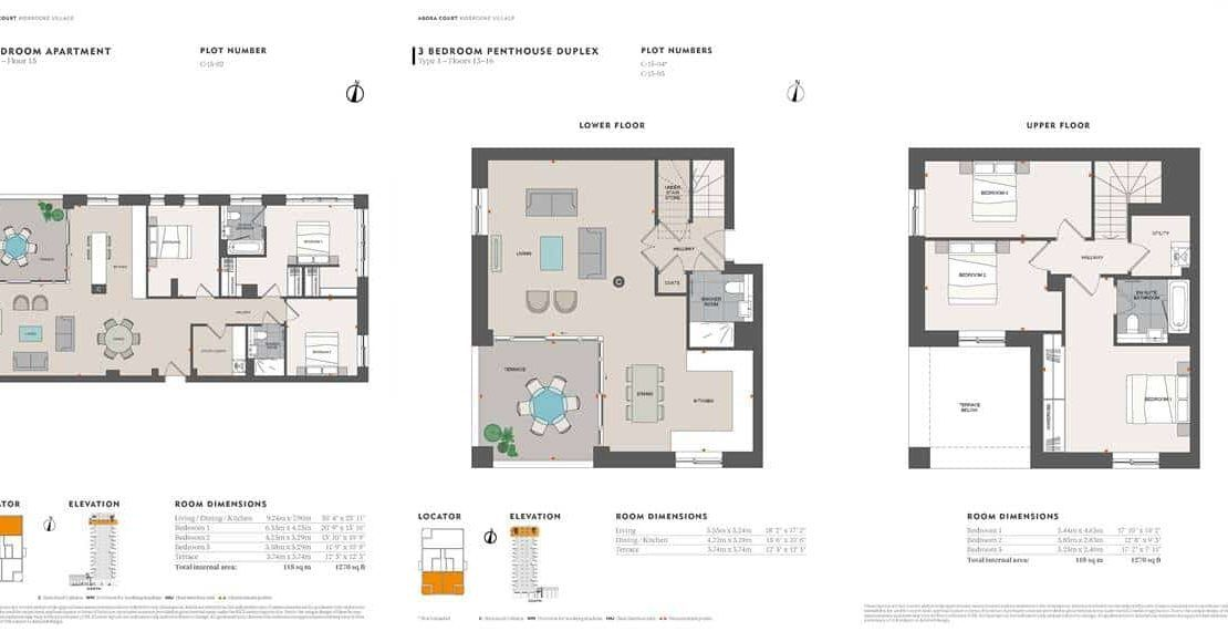 Agora Court - 3 Bedroom Floor Plan