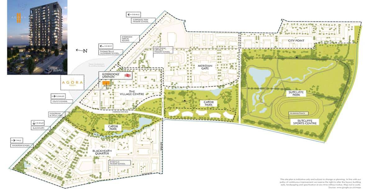 Agora Court - Kidbrooke Village Site Plan