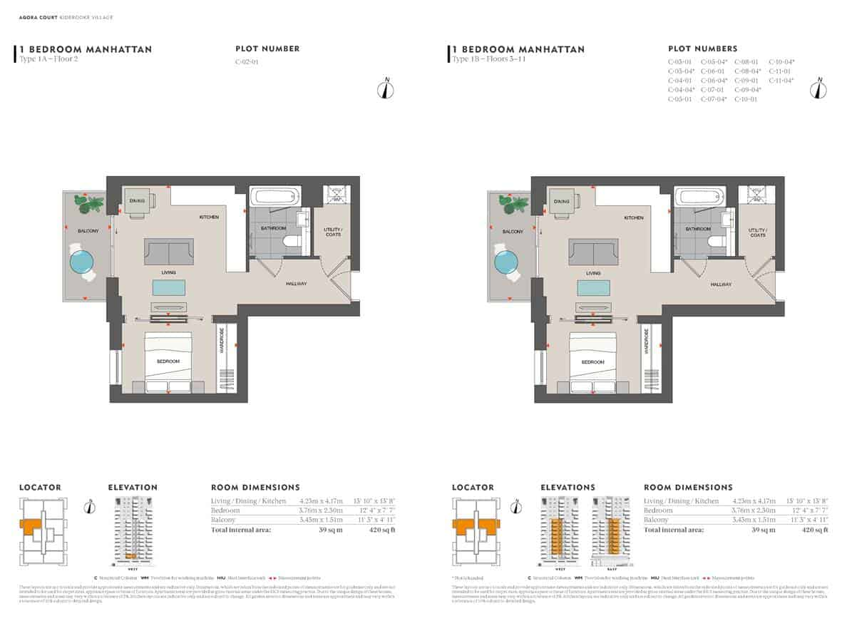 Agora Court - Manhattan Suite Floor Plan
