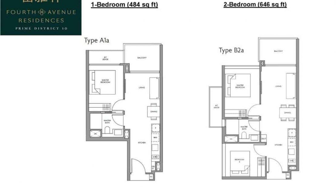 Fourth Avenue Residences - 1 and 2 Bedroom