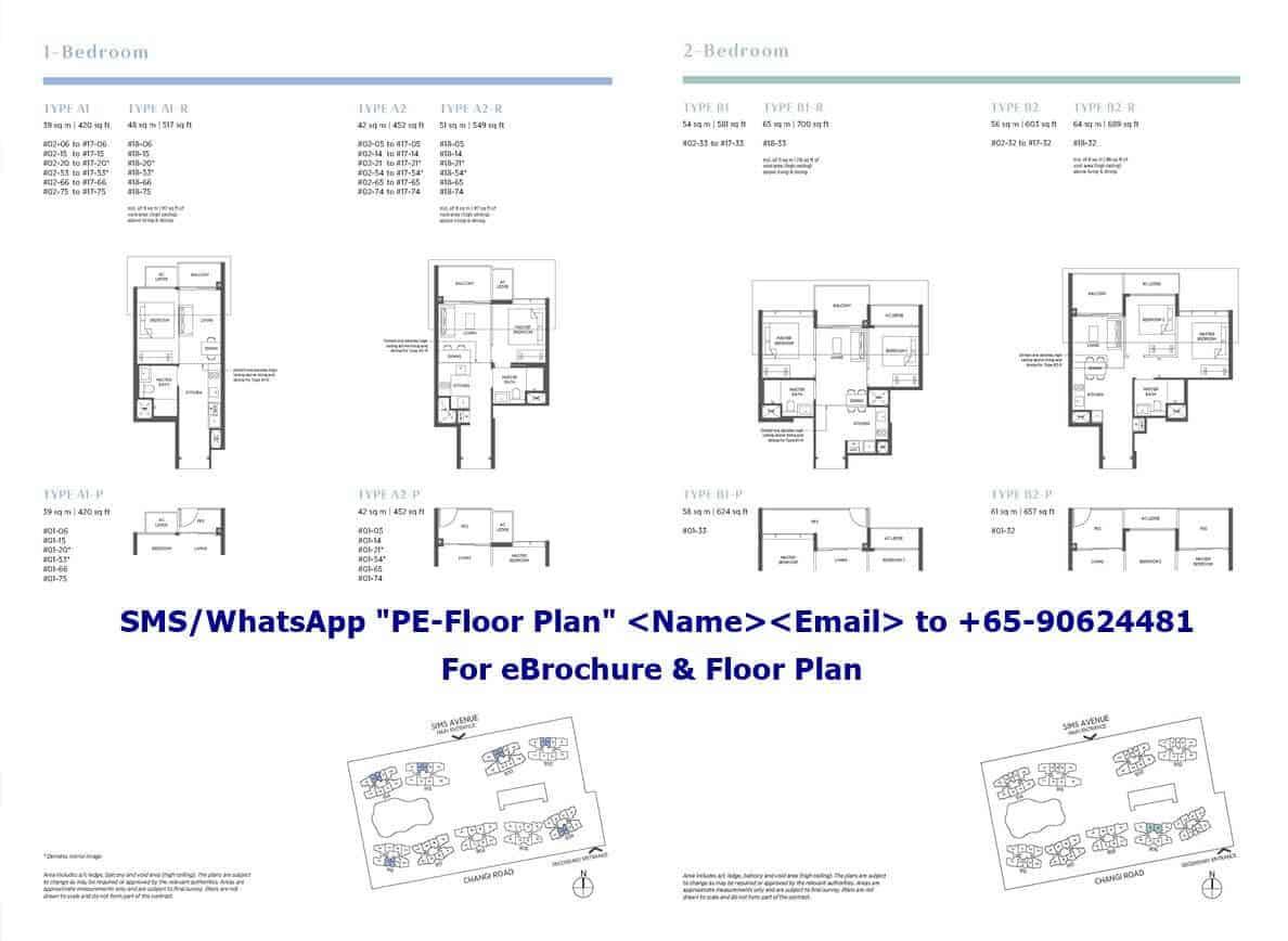 Parc Esta - 1 & 2 Bedroom Floor Plan