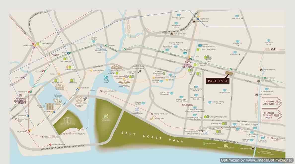 Parc Esta - Location Map