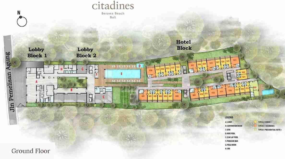 Citadines Berawa Beach Bali Hotel Site Plan