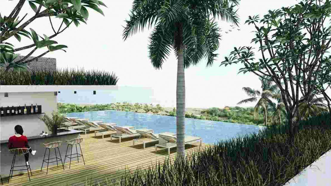 Citadines Berawa Beach Hotel - Beach view