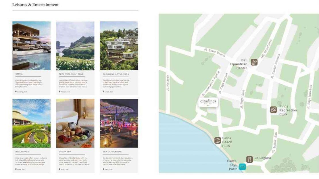 Citadines Berawa Beach Bali Hotel Location Map