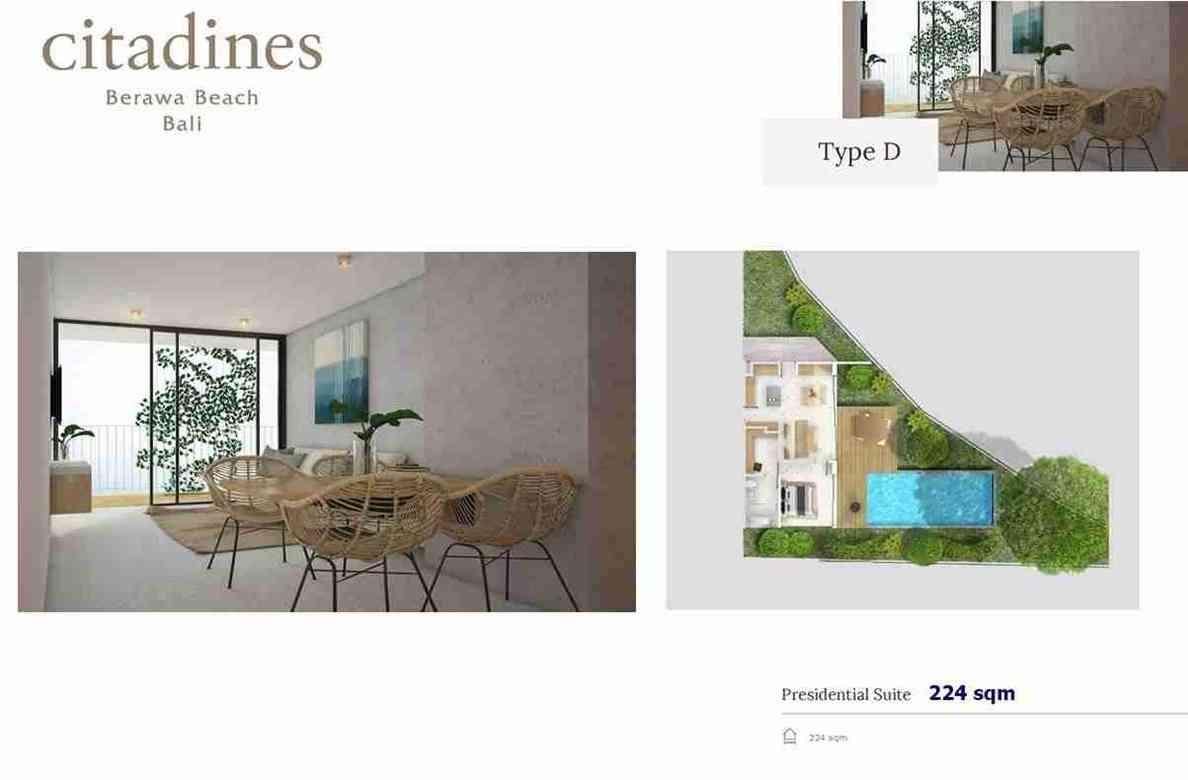 Citadines Berawa Beach Hotel - Type D floor plan