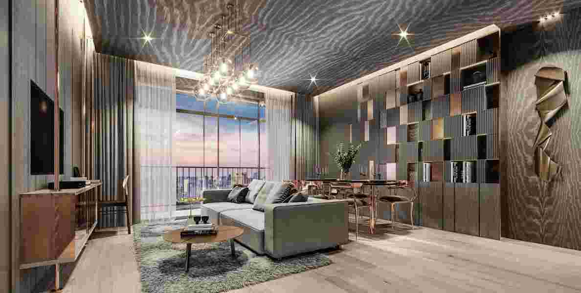 Rhythm Ekkamai Estate - 2 Bedroom Living room