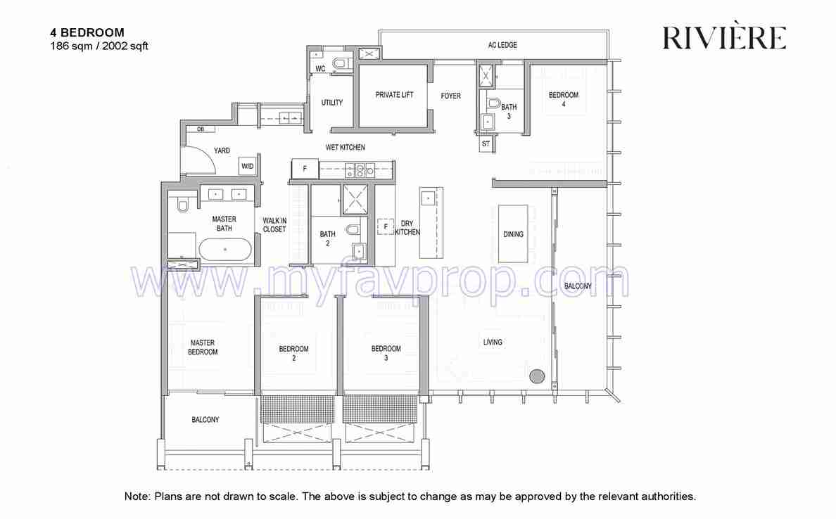 iviere - 4 Bedroom Floor Plan