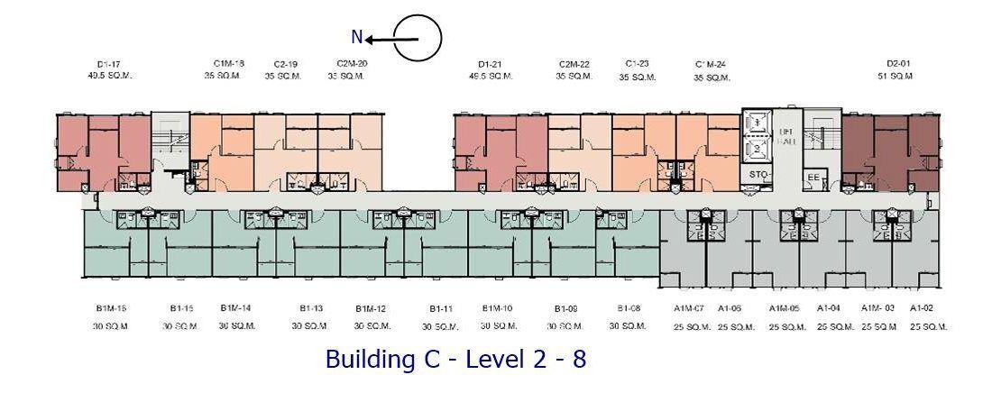 Aspire Asoke Ratchada - Building C Level 2 to 8