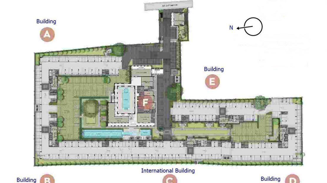 Aspire Asoke Ratchada - Building Site Plan