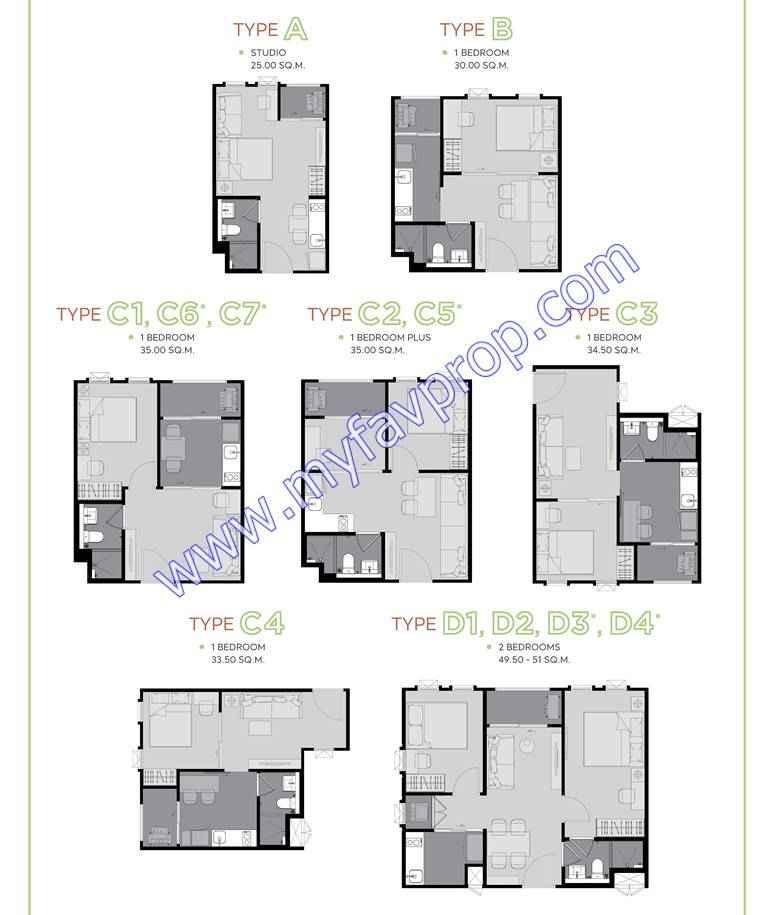 Aspire Asoke Ratchada Floor Plan
