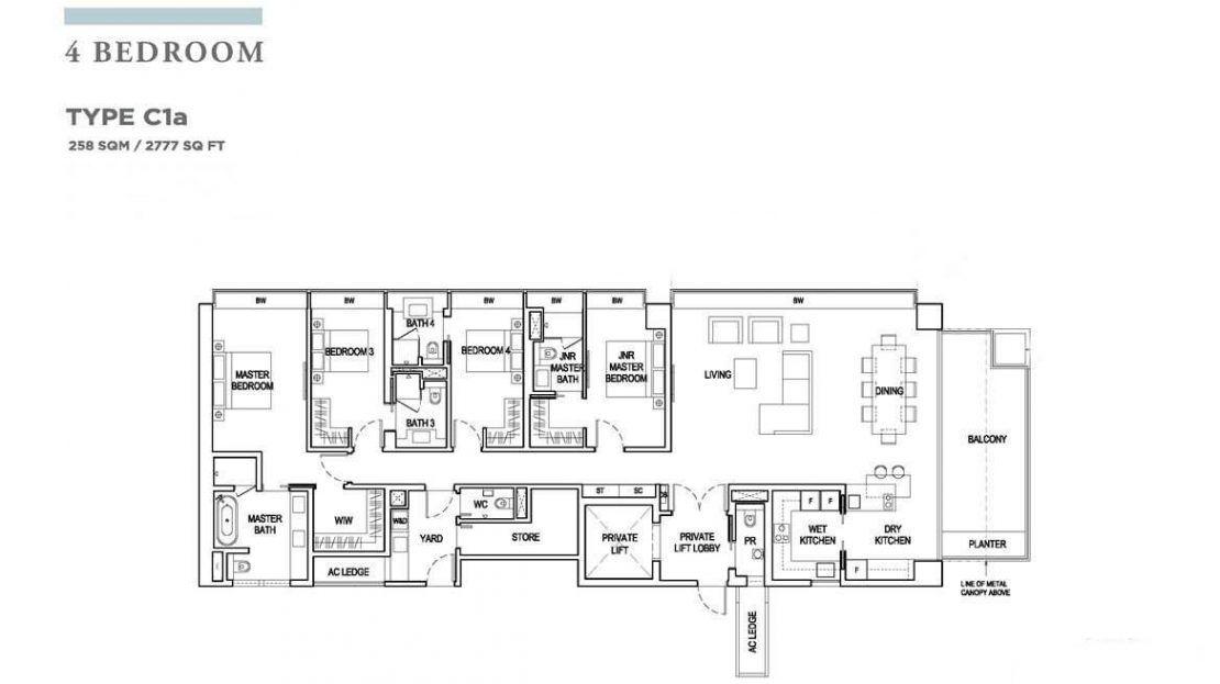 Boulevard 88 - 4BR Floor Plan