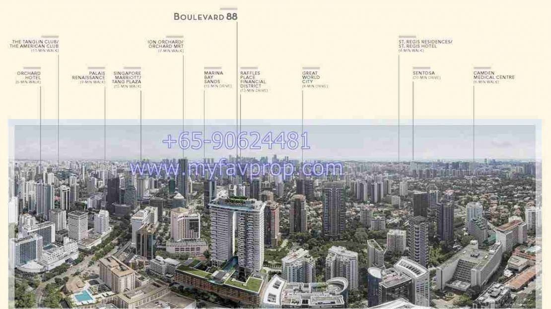 Boulevard 88 - Location Aerial VIew