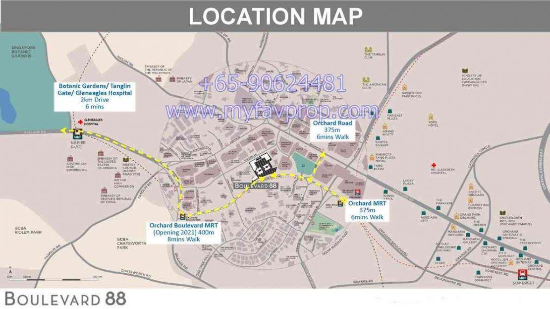 Boulevard 88 - Location Map