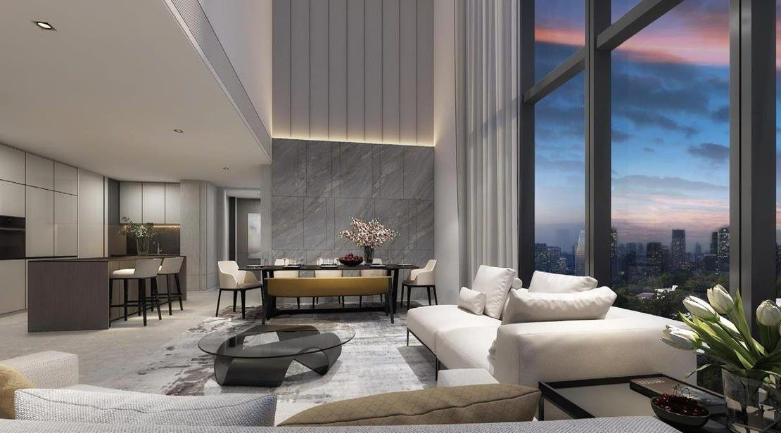 Amber Park - Penthouse Living Room