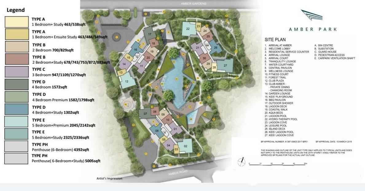 Amber Park - Site & Facilities Plan