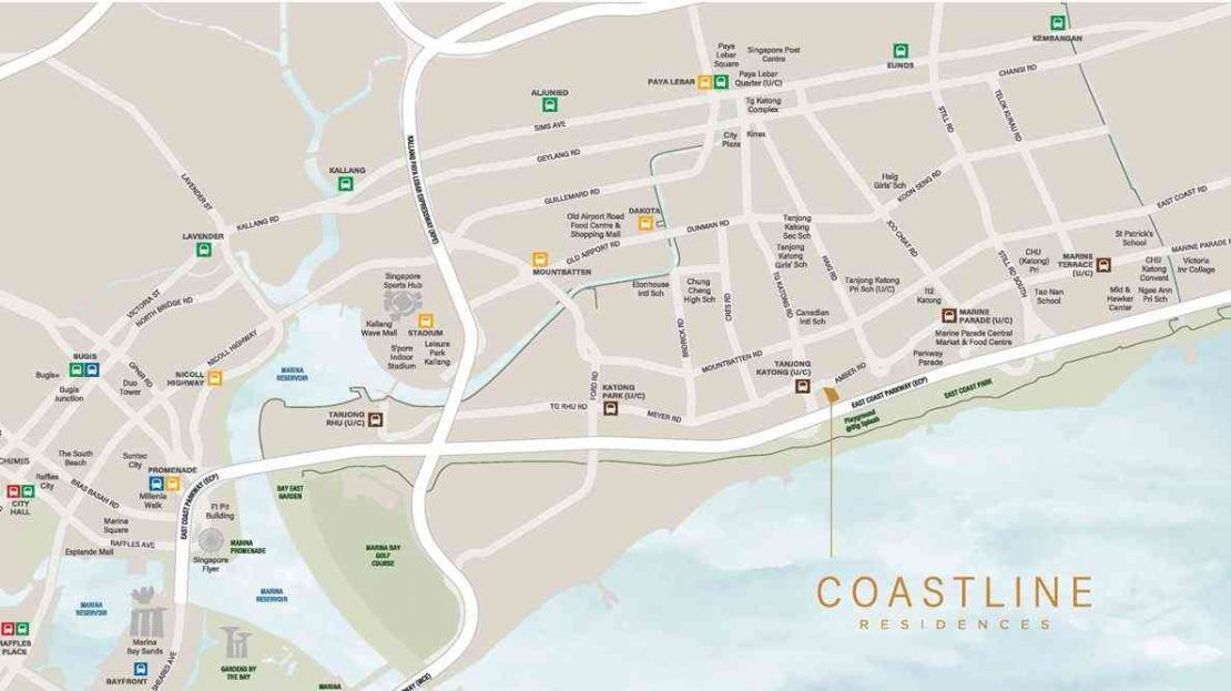 Coastline Residences - Location Map