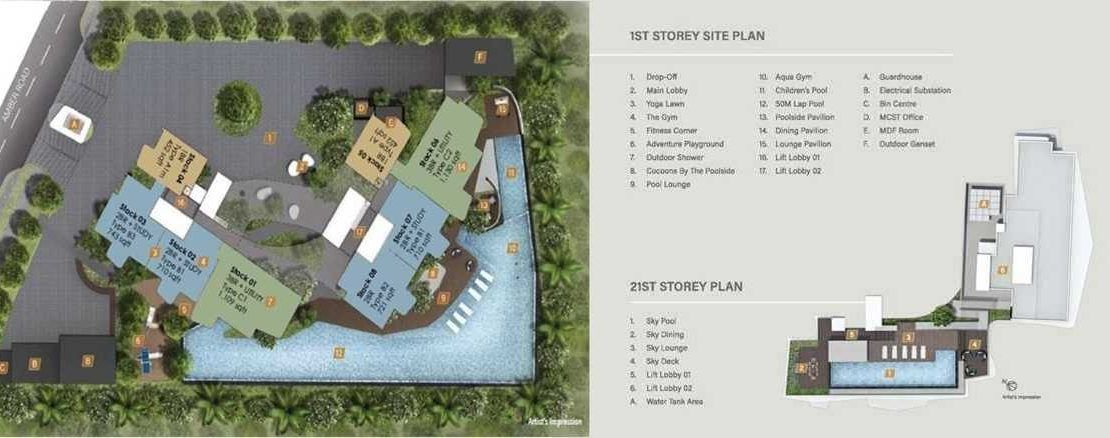 Coastline Residences - Site Plan and Floor Plate