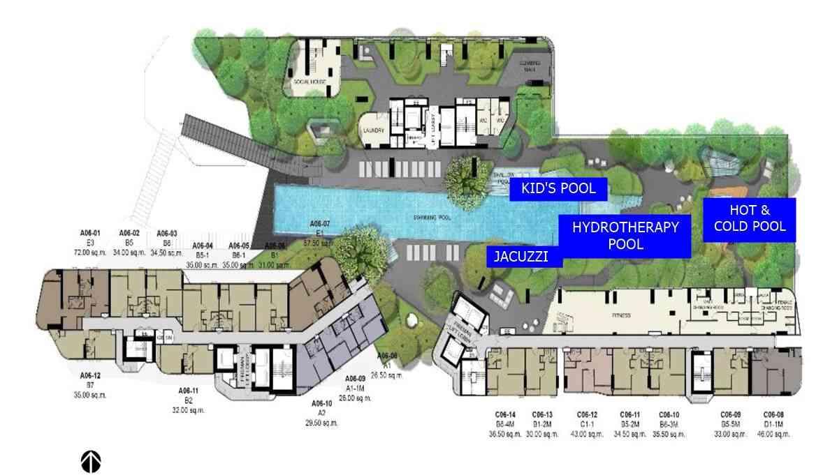 Ideo Q Phahol Saphan Kwai - 6th floor facilities plan