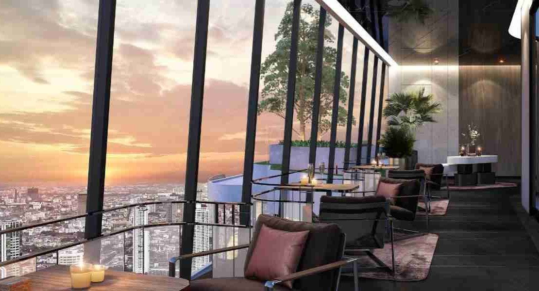 Ideo Q Phahol Saphan Kwai - Sunset Sky Lounge