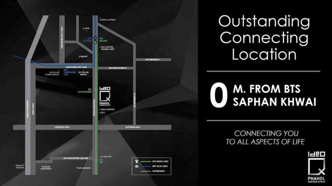 Ideo Q Phahol Saphan Kwai - location map