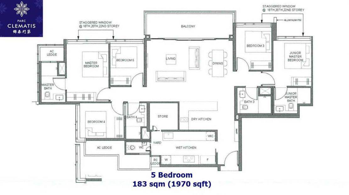 Parc Clematis - 5 Bedroom Floor plan