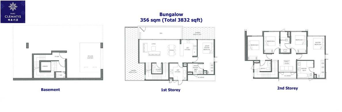 Parc Clematis - Bungalow Floor Plan