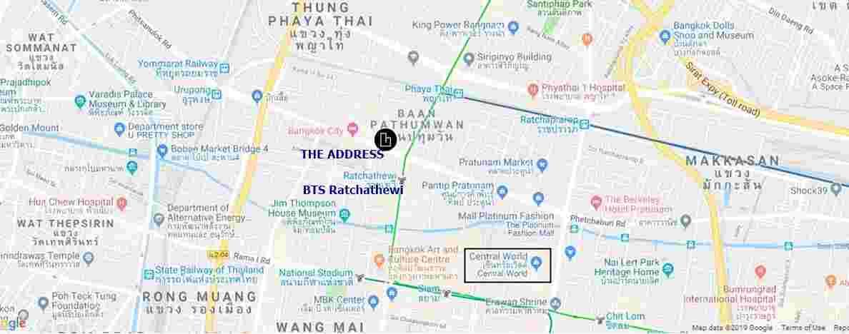 The Address Siam Ratchathewi - Location Map