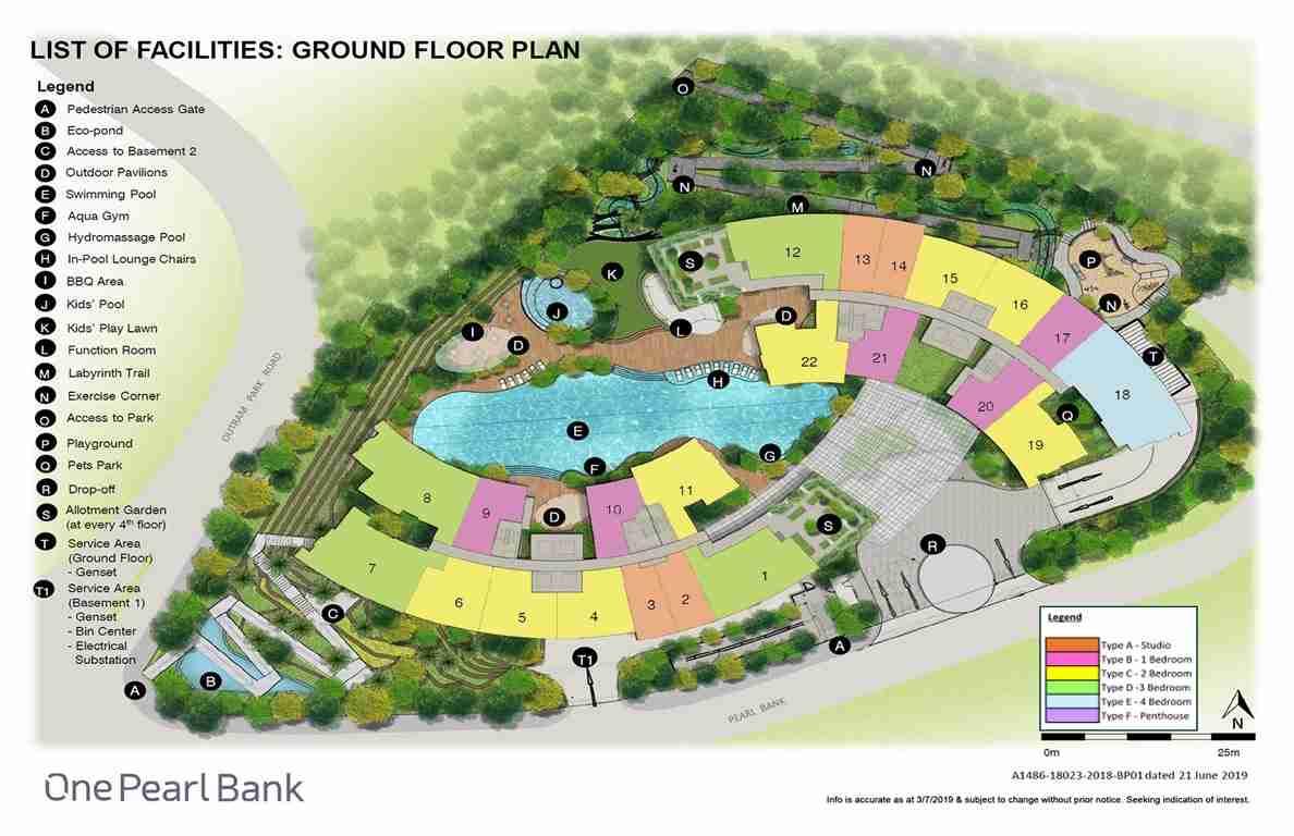 One Pearlo Bank Unit Distribution Site Plan