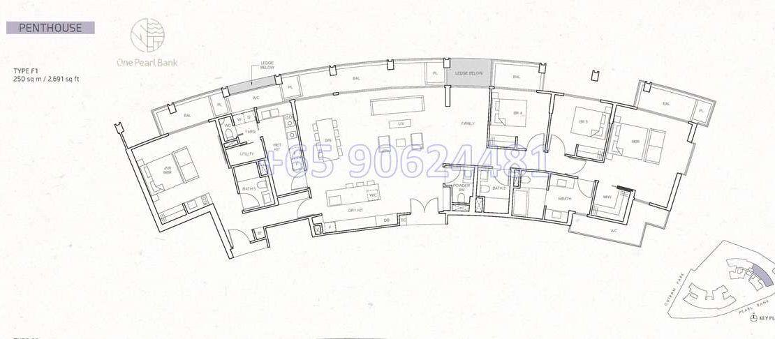 One Pearl Bank 3 & 4 Bedroom Floor Plan