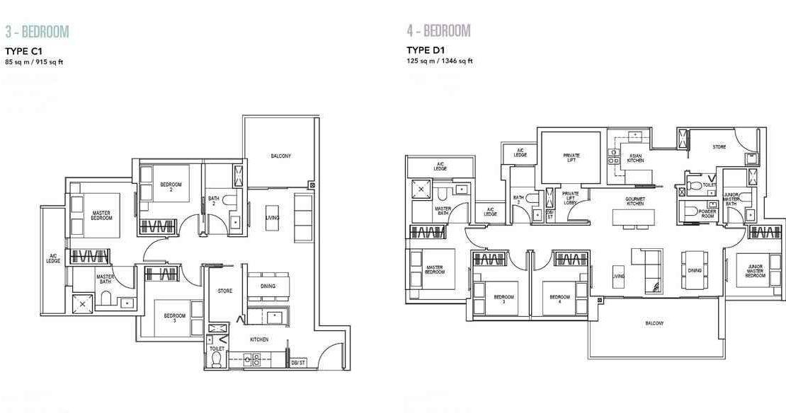 Sky Everton - 3 & 4 BR Floor Plan