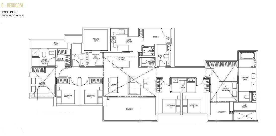 Sky Everton - 6 BR Floor Plan